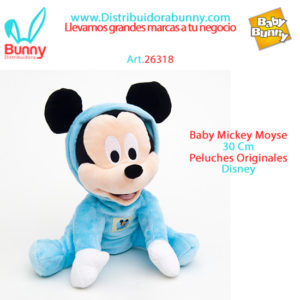 mickey mouse baby peluche 30 cm wabro