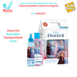 Set por Dos Body Splash Shompoo Infantil Frozen algabo
