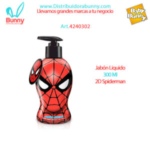 Jabón Liquido 300 Ml 2D Spiderman algabo
