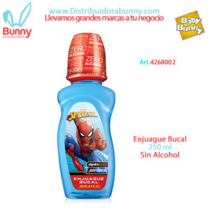 spiderman enjuague bucal sin alcohol