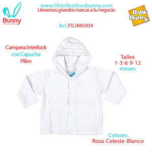 Campera Interlock con Capucha Pilim